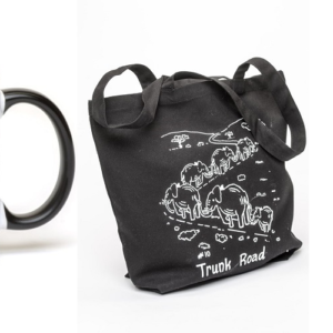#10 Trunk Road bundle: T-shirt, bag and mug