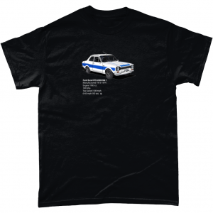 Gildan Heavy Cotton T-Shirt Ford-Escort-RS-2000-Mk-1-White-text