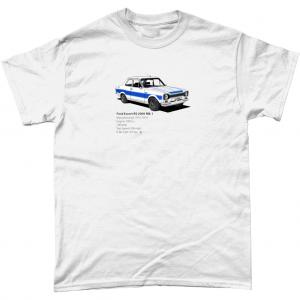 Gildan Heavy Cotton T-Shirt Ford-Escort-RS 2000-Mk-1-Black-textpng